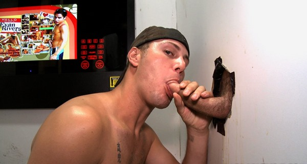 ungloryhole sexy gay guy swallowing male meat